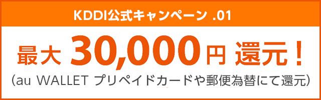 auひかりKDDI公式キャンペーン最大30,000円還元
